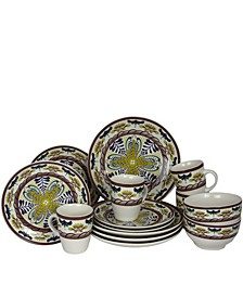 Santa Fe Springs 16 Piece Stoneware Dinnerware Set