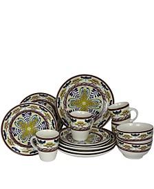 Elama Santa Fe Springs 16 Piece Stoneware Dinnerware Set