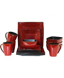 Elama Harland Loft 16 Piece Modern Premium Stoneware set