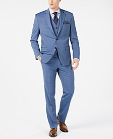 Men's Classic-Fit UltraFlex Stretch Light Blue Tic Suit Separates
