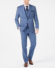 Men's Classic-Fit UltraFlex Stretch Light Blue Tic Suit Separates