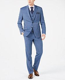 Lauren Ralph Lauren Men's Classic-Fit UltraFlex Stretch Light Blue Tic Suit Separates