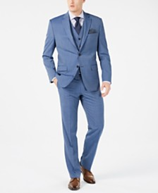 Lauren Ralph Lauren Men's Classic-Fit UltraFlex Stretch Light Blue Tic Suit Separates