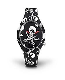 Doodle Watch Pirates Skulls Nero