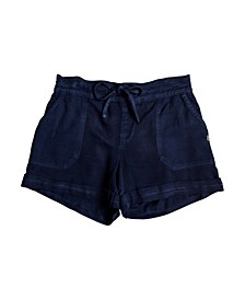 Girls Goldy Rain Cuff Shorts