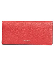 kate spade new york Margaux Pebble Leather Bifold Continental Wallet
