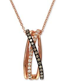 "EFFY® Diamond 18"" Pendant Necklace (1/5 ct. t.w.) in 14k Rose Gold"