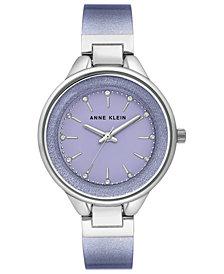 Anne Klein Women's Lavender Shimmer Half-Bangle Bracelet Watch 36mm