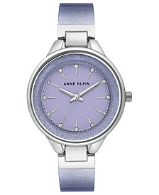 Anne Klein Women's Lavender Shimmer Half-Bangle Bracelet Watch 36mm