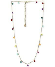 """EFFY® Multi-Gemstone (6 ct. t.w.) Statement Necklace, 18"""" + 2"""" extender, in 14k Gold"""