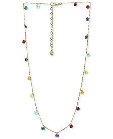 "EFFY® Multi-Gemstone (6 ct. t.w.) Statement Necklace, 18"" + 2"" extender, in 14k Gold"