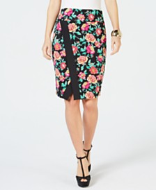 Thalia Sodi Printed Wrap Scuba Skirt, Created for Macy's