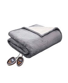 Woolrich Heated Plush to Berber Reversible Twin Blanket