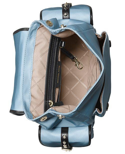 517ec099d6f8b2 Michael Kors Leila Medium Flap Nylon Backpack & Reviews - Handbags ...