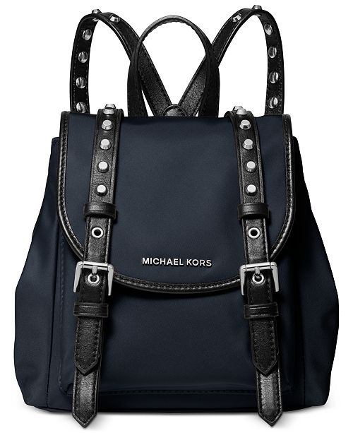 Michael Kors Leila Mini Flap Nylon Backpack