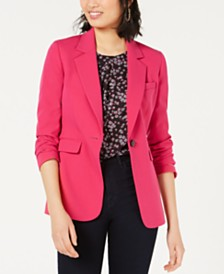 Bar III One-Button Blazer, Created for Macy's
