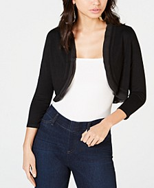 Chiffon-Trim Bolero Cardigan, Created for Macy's