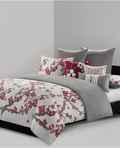 Natori Cherry Blossom Queen 3 Piece Duvet Cover Mini Set