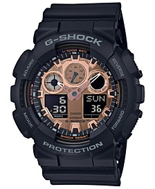 Men's Analog-Digital Black Resin Strap Watch 51.2mm