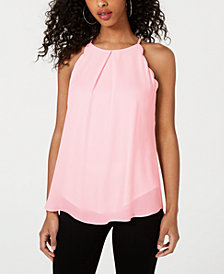 BCX Juniors' Scalloped-Edge Tank Top