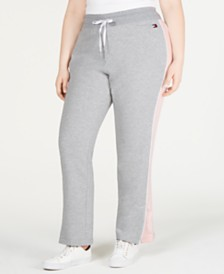 Tommy Hilfiger Sport Plus Size Side-Stripe Sweatpants