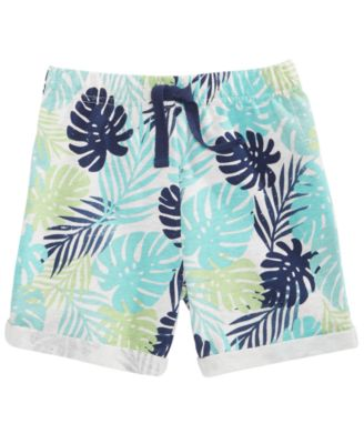 Toddler Boys Tropical-Print Shorts, Created for Macy's