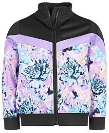 Ideology Little Girls Floral-Print Zip-Up Jacket, Created for Macy's