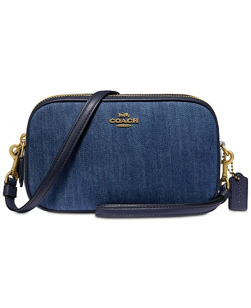 COACH Sadie Denim Crossbody