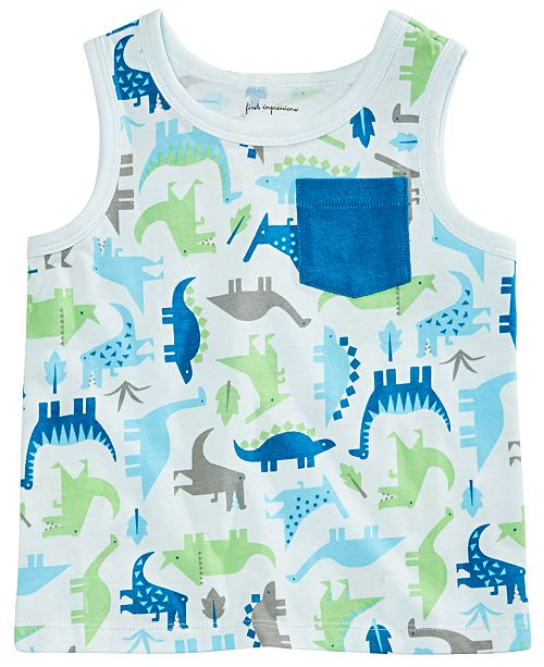 First Impressions Toddler Boys Dino-Print Tank Top, Created for Macy's
