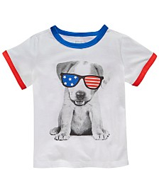 First Impressions Baby Boys Patriotic Dog Graphic T-Shirt, Created for Macy's
