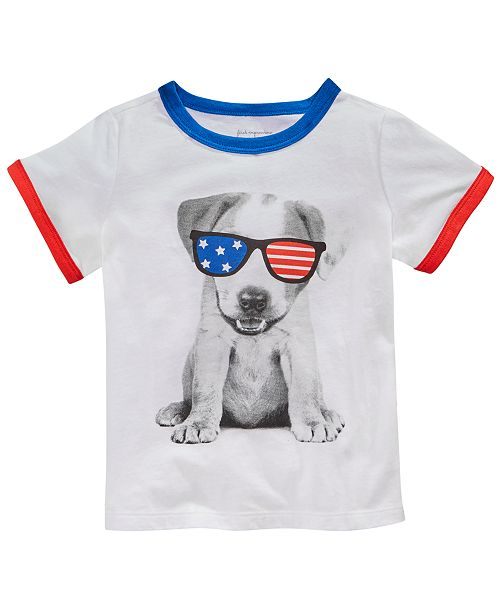 First Impressions Toddler Boys Dog-Print T-Shirt, Created for Macy's