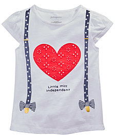First Impressions Toddler Girls Heart & Suspenders Graphic T-Shirt, Created for Macy's