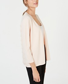 Alfani Fringe-Back Cardigan, Created for Macy's