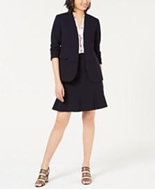 Bar III Bi-Stretch Jacket, Printed Blouse & Ruffled Skirt, Created for Macy's
