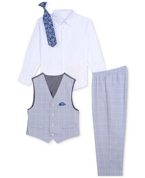 c67f25bca Nautica Baby Boys 4-Pc. Shirt, Vest, Pants & Necktie Set & Reviews ...