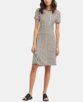 5fd0ce537f DKNY Short-Sleeve Crewneck Striped Dress