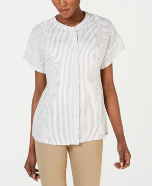 Weekend Max Mara MIDA LINEN BUTTON-UP SHIRT
