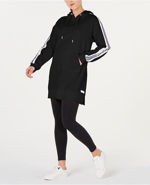 Calvin Klein Varsity-Stripe Hoodie Dress