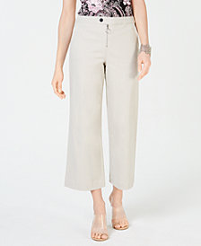 I.N.C. Zip-Front Wide-Leg Pants, Created for Macy's