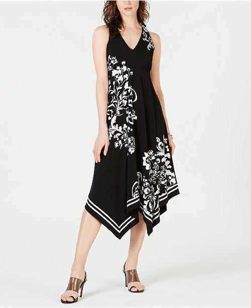 INC International Concepts I.N.C. Hanky-Hem Printed Dress, Created for Macy's