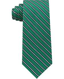 Men's Tricolor Stripe Silk Tie