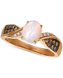 Le Vian® Neopolitan Opal (5/8 ct. t.w.) & Diamond (1/4 ct. t.w.) Ring in 14k Rose Gold