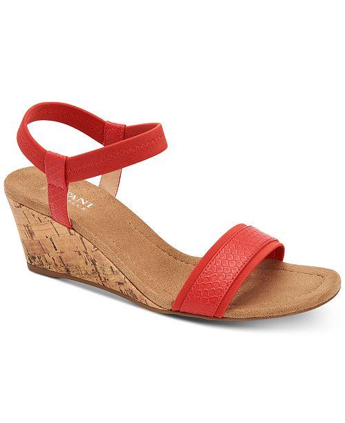 Alfani Women's Step 'N Flex Gillee Wedge Sandals, Created for Macy's