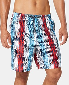 "Men's Americana Star Racer 7"" Swim Trunks"