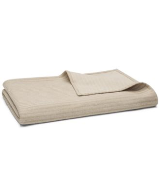 Interlock Cotton Full/Queen Coverlet, Created for Macy's