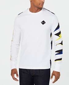 Sean John Men's Long-Sleeve Razor Print T-Shirt