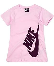 Nike Little Girls Logo-Print Cotton T-Shirt Dress
