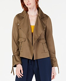 Bar III Cinched-Sleeve Utility Jacket, Created for Macy's