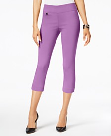 a72e764d352 Alfani Tummy-Control Pull-On Capri Pants
