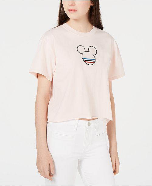 Mighty Fine Juniors' Cotton Retro Mickey Mouse T-Shirt